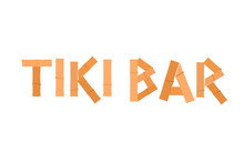 Tiki Bar Sign Icon. Clipart Image Isolated On White Background