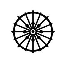 Konark Wheel Simple Silhouette...