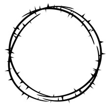Thorn Crown Top View . Clipart...