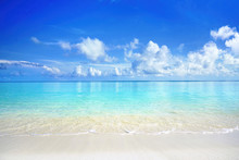Beautiful Sandy Beach With Whi...