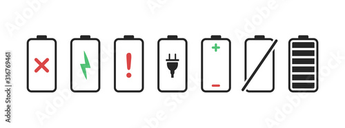 Photo Battery charge phone icons