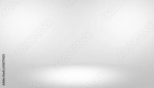 Fototapeta Gray empty room studio gradient with spotlight used for background and display your product obraz na płótnie