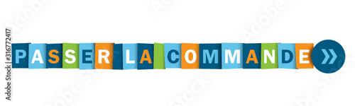 Bouton web typographique vecteur PASSER LA COMMANDEblues Canvas Print