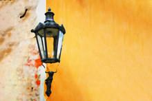 Ancient Lantern On The Texture...