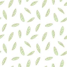 Abstract Botanical Leaf Seamle...