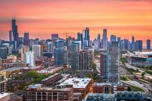 Chicago, Illinois, USA Downtow...