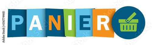 Bouton web typographique vecteur PANIER Wallpaper Mural