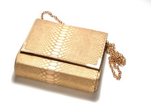 Ladies ' Gold Reptile Leather ...