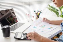 Young Business Calculate Finan...