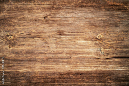 Obraz Brown unpainted natural wood with grains for background and texture. - fototapety do salonu
