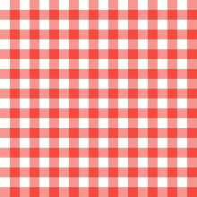 Textured Red And White Plaid V...