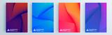 Zestaw nowoczesnych abstrakcyjnych okładek, minimalistyczny projekt okładek. Kolorowe tło geometryczne, ilustracji wektorowych.