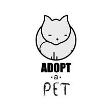 Adopt A Pet Design Poster With...