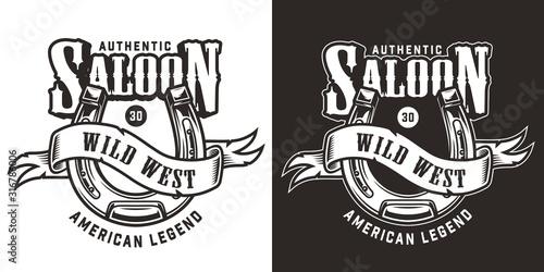 Fototapeta Wild west vintage emblem obraz