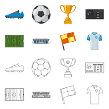 Vector Design Of Soccer And Ge...