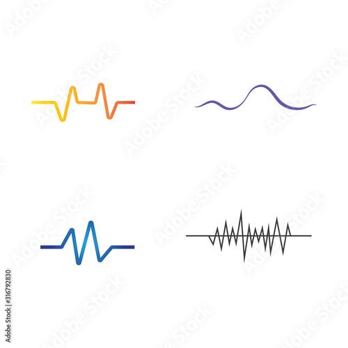 Photo Set Sound waves vector illustration