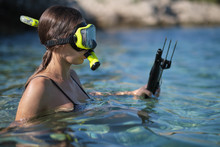 Aqua Woman Diver Spearfishing ...
