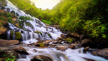 Mae Ya Waterfall, One Of The Most Beautiful And Beautiful Waterfalls In Thailand. Doi Inthanon National Park/Chiang Mai/Thailand