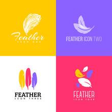 Feather Icon. Set Of Logo Desi...