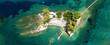 Leinwanddruck Bild - Aerial drone ultra wide photo of iconic small islet of Cameo near Laganas bay, Zakynthos island, Ionian, Greece