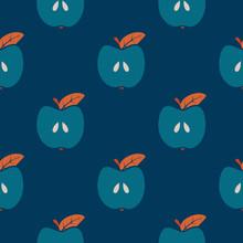 Seamless Apple Scandinavian Tr...