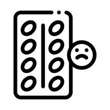 Destress Pills Icon Vector. Ou...
