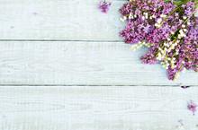 Bouquet Of Purple Lilac Flower...