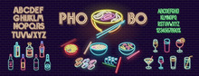 Neon Pho Bo Noodles For Bar Si...