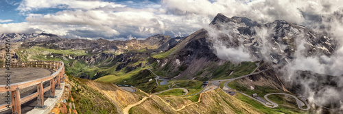 Fototapeta View on Grossglockner High Alpine Road; Austria obraz