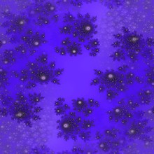 Purple Fractal Flowery Fractal Design Illustration Image