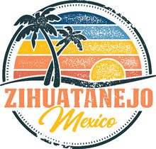 Vintage Zihuatanejo Mexico Tropical Vacation Destination