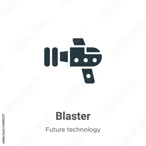 Blaster glyph icon vector on white background Canvas Print