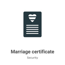 Marriage Certificate Glyph Ico...