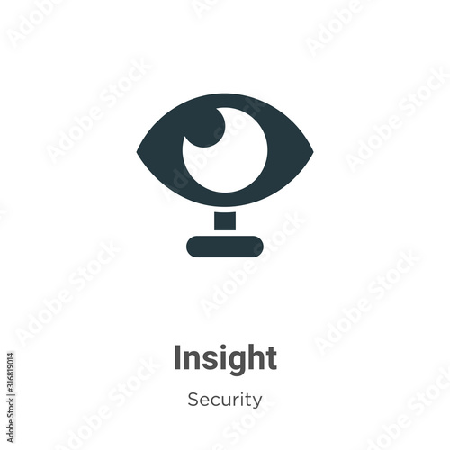 Vászonkép Insight glyph icon vector on white background