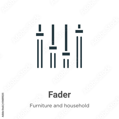 Fader glyph icon vector on white background Fototapeta