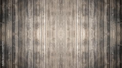 Fototapeta old brown rustic dark grunge wooden texture - wood background banner obraz