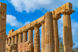 Temple of Juno (Tempio di Giunone) Hera. Valle dei Templi (Valley of the Temples). Agrigento Sicily Italy.