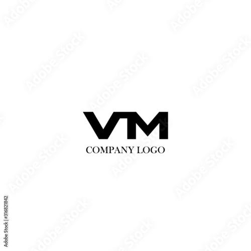 Initial VM letter logo modern design Wallpaper Mural