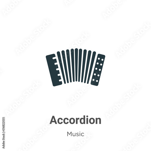 Fotomural Accordion glyph icon vector on white background