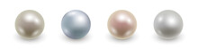 Set Of Realistic 3d Pearls Iso...