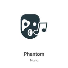 Phantom Glyph Icon Vector On W...