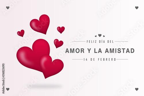 Feliz día del amor y la amistad 14 de febrero