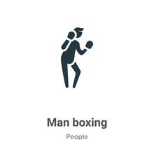 Man Boxing Glyph Icon Vector O...