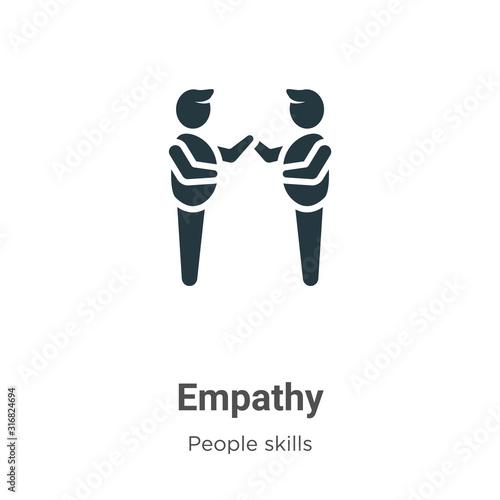 Empathy glyph icon vector on white background Tapéta, Fotótapéta