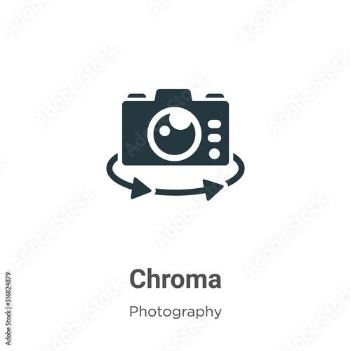 Chroma glyph icon vector on white background Canvas Print