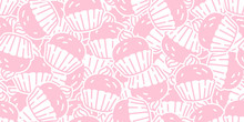 Cake Seamless Pattern Cupcake Vector Cookie Pretzel Snack Bread Scarf Isolated Wallpaper Tile Background Cartoon Doodle Illustration Pink Design