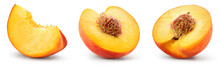 Peach Slice Isolated. Peach Se...