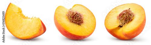 Fotografie, Obraz Peach slice isolated