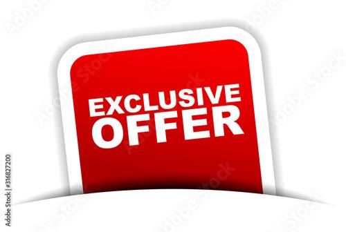 Cuadros en Lienzo red vector banner exclusive offer
