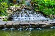 Waterfall River Walk San Antonio Texas
